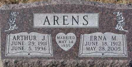 ARENS, ARTHUR J. - Cedar County, Nebraska | ARTHUR J. ARENS - Nebraska Gravestone Photos