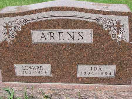ARENS, EDWARD - Cedar County, Nebraska | EDWARD ARENS - Nebraska Gravestone Photos