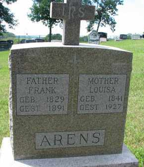 ARENS, FRANK - Cedar County, Nebraska | FRANK ARENS - Nebraska Gravestone Photos
