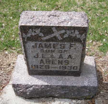 ARENS, JAMES F - Cedar County, Nebraska | JAMES F ARENS - Nebraska Gravestone Photos