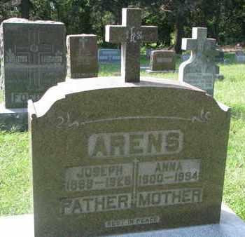 ARENS, ANNA - Cedar County, Nebraska | ANNA ARENS - Nebraska Gravestone Photos