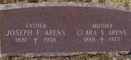 ARENS, JOSEPH F. - Cedar County, Nebraska | JOSEPH F. ARENS - Nebraska Gravestone Photos