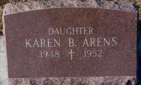 ARENS, KAREN B. - Cedar County, Nebraska   KAREN B. ARENS - Nebraska Gravestone Photos