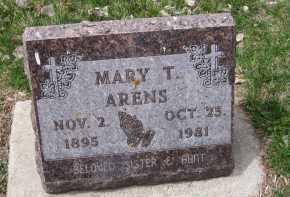 ARENS, MARY T. - Cedar County, Nebraska | MARY T. ARENS - Nebraska Gravestone Photos