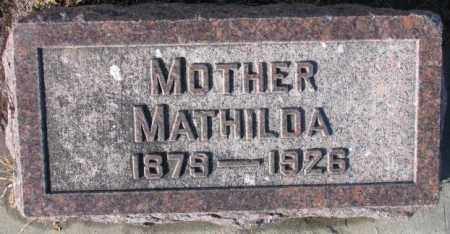 PICK ARENS, MATHILDA MARY - Cedar County, Nebraska | MATHILDA MARY PICK ARENS - Nebraska Gravestone Photos