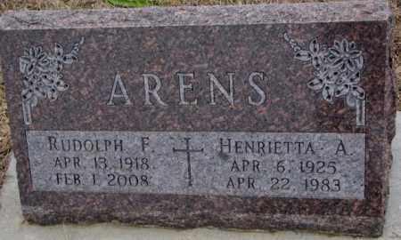 ARENS, HENRIETTA A. - Cedar County, Nebraska | HENRIETTA A. ARENS - Nebraska Gravestone Photos
