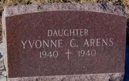 ARENS, YVONNE C. - Cedar County, Nebraska | YVONNE C. ARENS - Nebraska Gravestone Photos