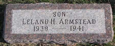 ARMSTEAD, LELAND H. - Cedar County, Nebraska | LELAND H. ARMSTEAD - Nebraska Gravestone Photos