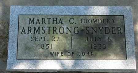 ARMSTRONG-SNYDER, MARTHA C. - Cedar County, Nebraska | MARTHA C. ARMSTRONG-SNYDER - Nebraska Gravestone Photos