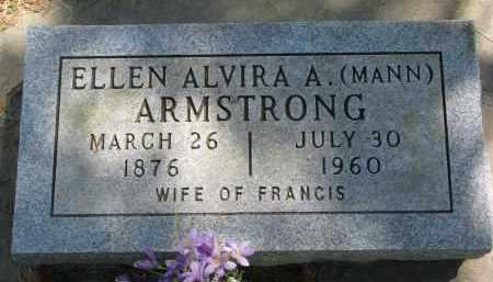 ARMSTRONG, ELLEN ALVIRA A. - Cedar County, Nebraska | ELLEN ALVIRA A. ARMSTRONG - Nebraska Gravestone Photos