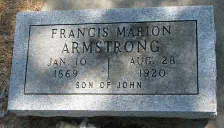 ARMSTRONG, FRANCIS MARION - Cedar County, Nebraska | FRANCIS MARION ARMSTRONG - Nebraska Gravestone Photos