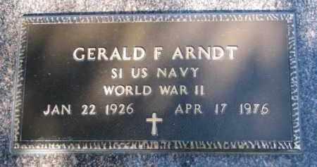 ARNDT, GERALD F. (WW II) - Cedar County, Nebraska | GERALD F. (WW II) ARNDT - Nebraska Gravestone Photos