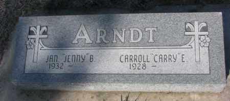"ARNDT, CARROLL E. ""CARRY"" - Cedar County, Nebraska 