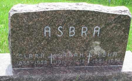 ASBRA, CLARA - Cedar County, Nebraska | CLARA ASBRA - Nebraska Gravestone Photos