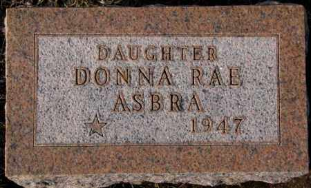 ASBRA, DONNA RAE - Cedar County, Nebraska   DONNA RAE ASBRA - Nebraska Gravestone Photos