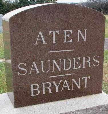 ATEN-SAUNDERS-BRYANT, PLOT - Cedar County, Nebraska | PLOT ATEN-SAUNDERS-BRYANT - Nebraska Gravestone Photos