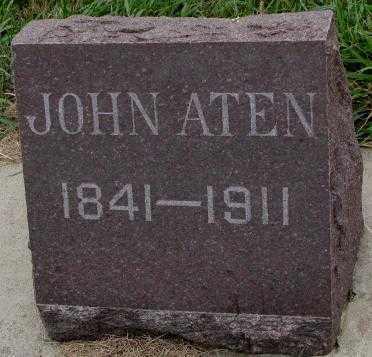 ATEN, JOHN - Cedar County, Nebraska   JOHN ATEN - Nebraska Gravestone Photos