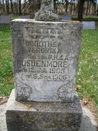 AUSDENMORE, DOROTHEA VERONIKA - Cedar County, Nebraska | DOROTHEA VERONIKA AUSDENMORE - Nebraska Gravestone Photos