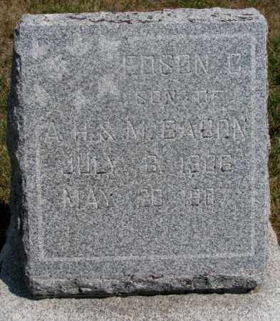 BABON, EDSEN C. - Cedar County, Nebraska | EDSEN C. BABON - Nebraska Gravestone Photos