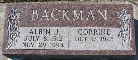 BACKMAN, ALBIN J. - Cedar County, Nebraska | ALBIN J. BACKMAN - Nebraska Gravestone Photos