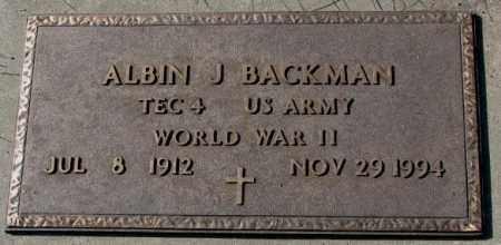 BACKMAN, ALBIN J. (WW II) - Cedar County, Nebraska   ALBIN J. (WW II) BACKMAN - Nebraska Gravestone Photos