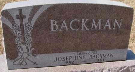 BACKMAN, JOSEPHINE - Cedar County, Nebraska | JOSEPHINE BACKMAN - Nebraska Gravestone Photos