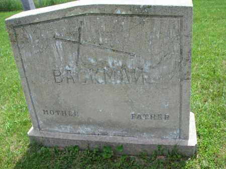 BACKMAN, MOTHER - Cedar County, Nebraska | MOTHER BACKMAN - Nebraska Gravestone Photos