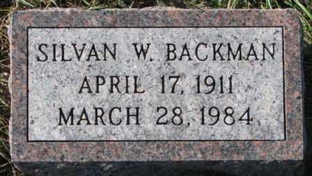 BACKMAN, SILVAN W. - Cedar County, Nebraska | SILVAN W. BACKMAN - Nebraska Gravestone Photos