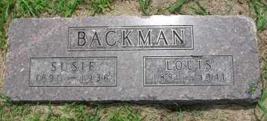 BACKMAN, SUSIE - Cedar County, Nebraska | SUSIE BACKMAN - Nebraska Gravestone Photos