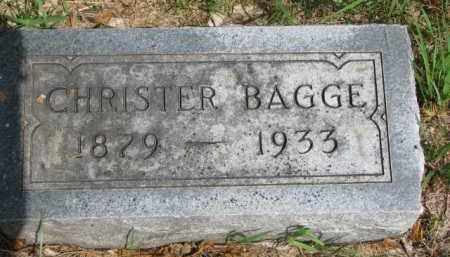 BAGGE, CHRISTER - Cedar County, Nebraska | CHRISTER BAGGE - Nebraska Gravestone Photos