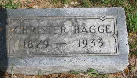 BAGGE, CHRISTER - Cedar County, Nebraska | CHRISTER BAGGE - Nebraska Gravestone Photos