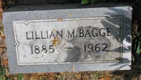 BAGGE, LILLIAN M. - Cedar County, Nebraska | LILLIAN M. BAGGE - Nebraska Gravestone Photos