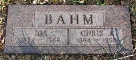 BAHM, IDA - Cedar County, Nebraska | IDA BAHM - Nebraska Gravestone Photos