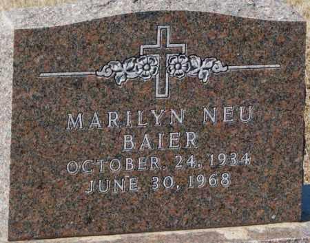 NEU BAIER, MARILYN - Cedar County, Nebraska   MARILYN NEU BAIER - Nebraska Gravestone Photos