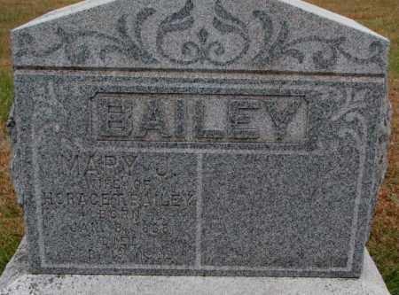 BAILEY, MARY J. - Cedar County, Nebraska   MARY J. BAILEY - Nebraska Gravestone Photos