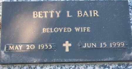 BAIR, BETTY L. - Cedar County, Nebraska   BETTY L. BAIR - Nebraska Gravestone Photos