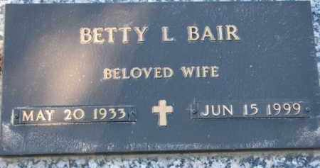 BAIR, BETTY L. - Cedar County, Nebraska | BETTY L. BAIR - Nebraska Gravestone Photos