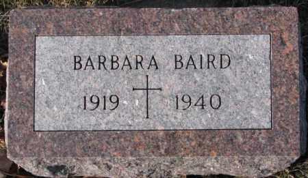 BAIRD, BARBARA - Cedar County, Nebraska | BARBARA BAIRD - Nebraska Gravestone Photos