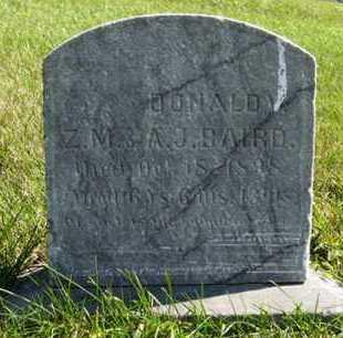 BAIRD, DONALD - Cedar County, Nebraska | DONALD BAIRD - Nebraska Gravestone Photos