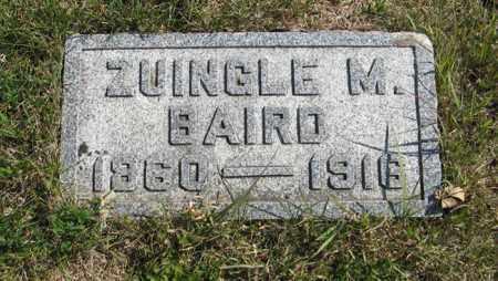 BAIRD, ZUINGLE M. - Cedar County, Nebraska | ZUINGLE M. BAIRD - Nebraska Gravestone Photos