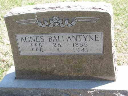 BALLANTYNE, AGNES - Cedar County, Nebraska   AGNES BALLANTYNE - Nebraska Gravestone Photos