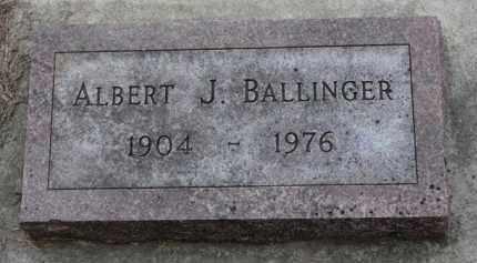 BALLINGER, ALBERT J. - Cedar County, Nebraska   ALBERT J. BALLINGER - Nebraska Gravestone Photos
