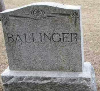 BALLINGER, FAMILY STONE - Cedar County, Nebraska | FAMILY STONE BALLINGER - Nebraska Gravestone Photos
