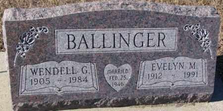 BALLINGER, EVELYN M. - Cedar County, Nebraska | EVELYN M. BALLINGER - Nebraska Gravestone Photos