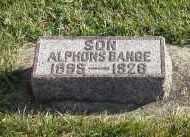 BANGE, ALPHONS - Cedar County, Nebraska   ALPHONS BANGE - Nebraska Gravestone Photos