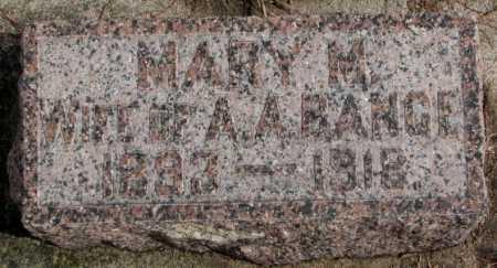 BANGE, MARY M - Cedar County, Nebraska | MARY M BANGE - Nebraska Gravestone Photos