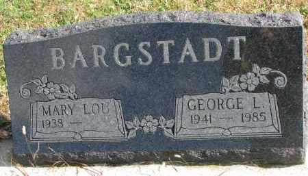 BARGSTADT, MARY LOU - Cedar County, Nebraska | MARY LOU BARGSTADT - Nebraska Gravestone Photos