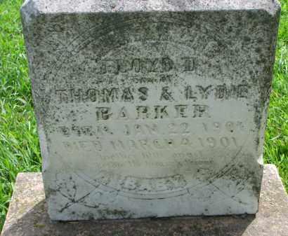 BARKER, FLOYD D. - Cedar County, Nebraska | FLOYD D. BARKER - Nebraska Gravestone Photos