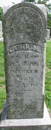 BARKER, JOHN M. - Cedar County, Nebraska | JOHN M. BARKER - Nebraska Gravestone Photos