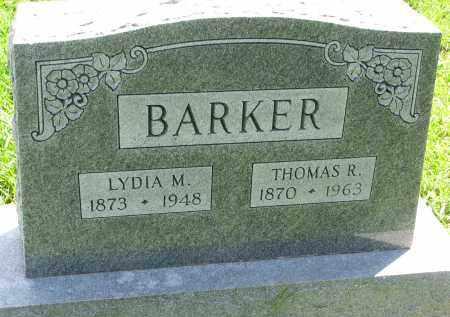 BARKER, LYDIA M. - Cedar County, Nebraska   LYDIA M. BARKER - Nebraska Gravestone Photos